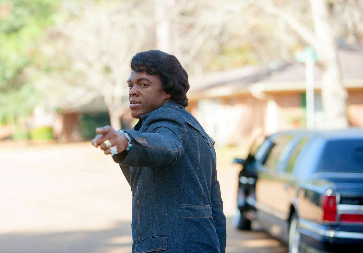 This image released by Universal Pictures shows Chadwick Boseman in a scene from