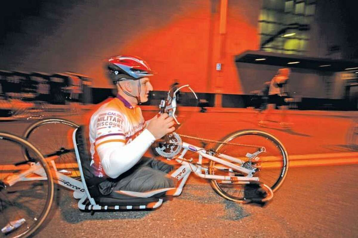Joey Woodke will take part in Monday's Boston Marathon.