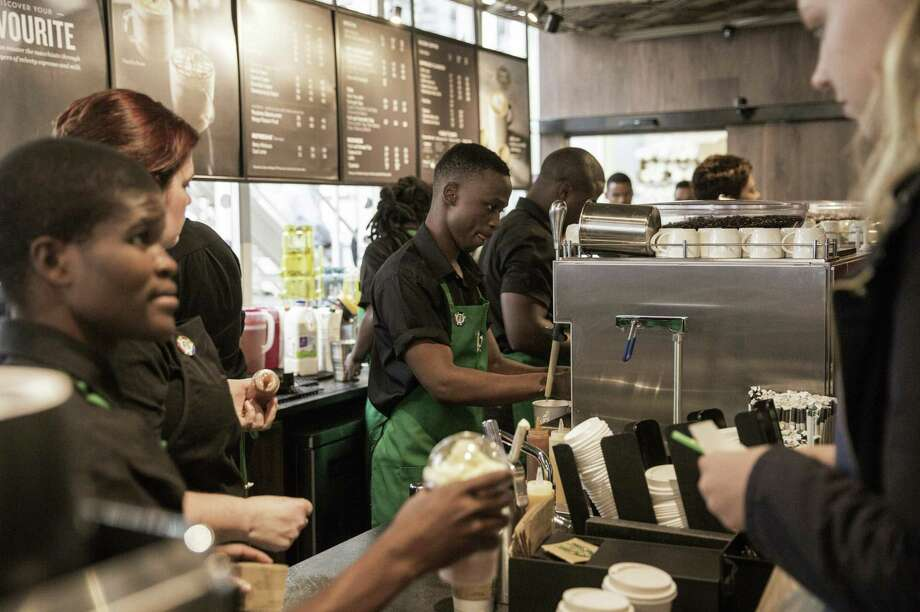 Starbucks is trying to boost sales by adding new restaurants. The company is adding about 1,800 net new locations this fiscal year — including 900 in its rapidly expanding China and Asia Pacific region. On Thursday, it opened its first store in sub-Saharan Africa, a location in Johannesburg, South Africa. Photo: Gianluigi Guercia /AFP /Getty Images / AFP or licensors
