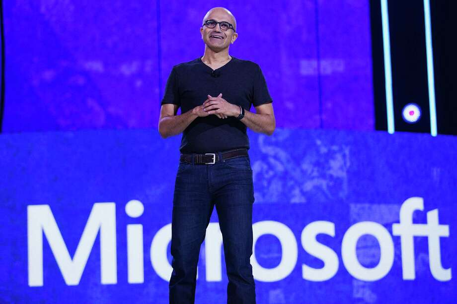 Microsoft CEO Satya Nadella speaks Seattle. The quarter was an abysmal one for worldwide personal-computer shipments, which slid to their lowest quarterly total since 2007 in the period, according to market researcher Gartner Inc. Photo: Mat Hayward /Getty Images For We Day / 2016 Getty Images