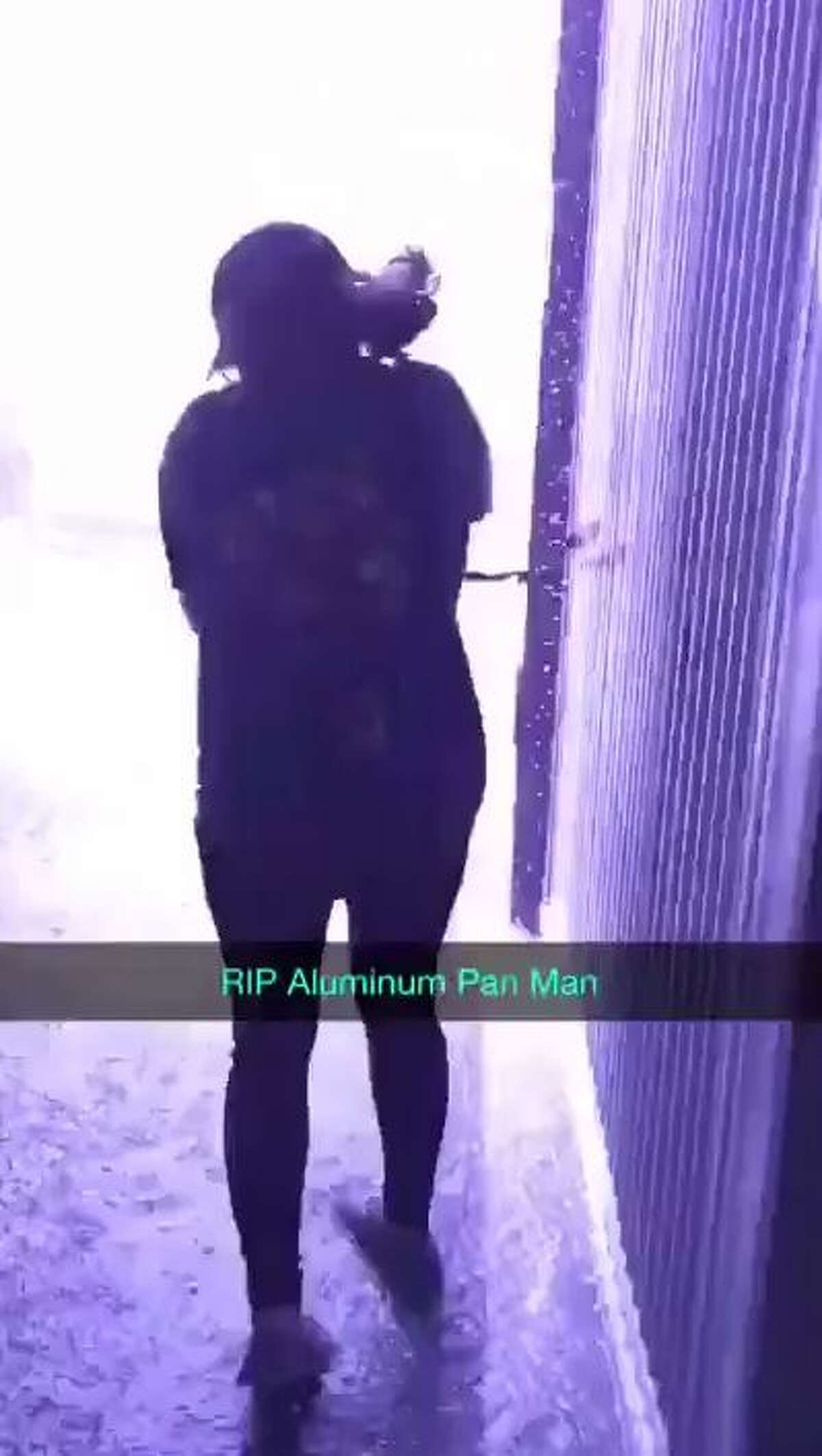 """""""The Aluminum Pan Man"""" almost got struck by lightning during last week's massive hail storm."""