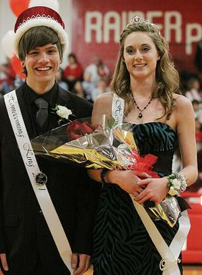 Marlette 2011 Winter Homecoming royalty are Taylor Ford and Karryn Lane.