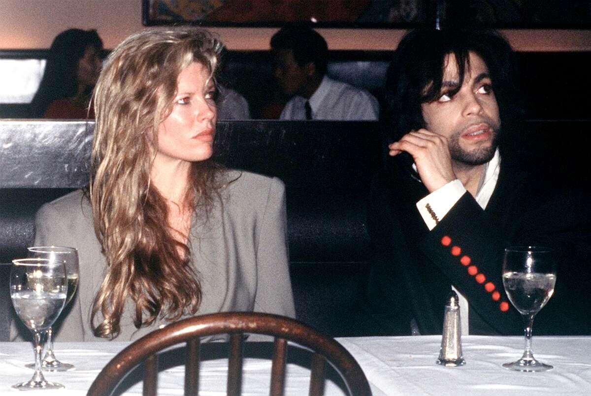 American film actress Kim Basinger with singer Prince, circa 1988.