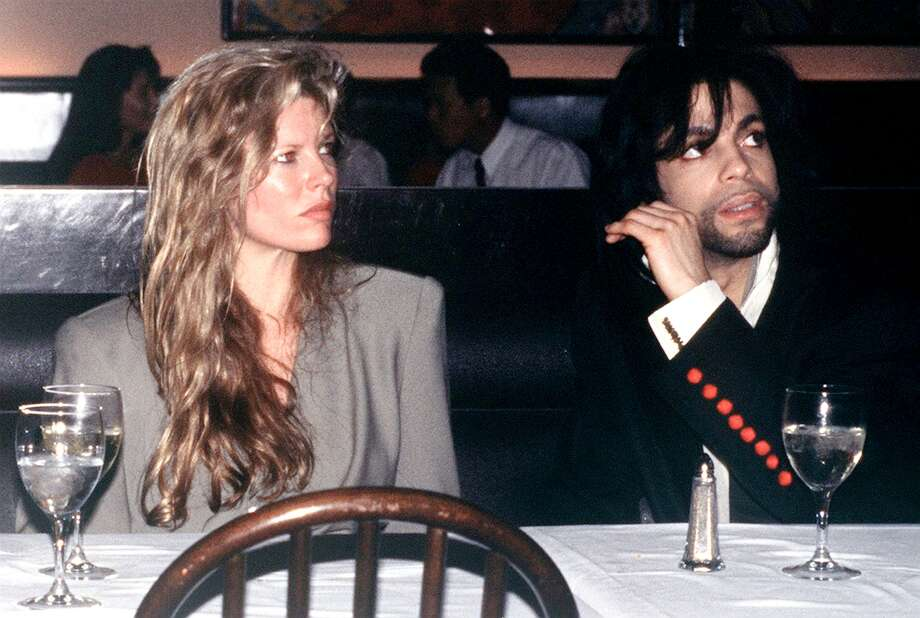 American film actress Kim Basinger with singer Prince, circa 1988.