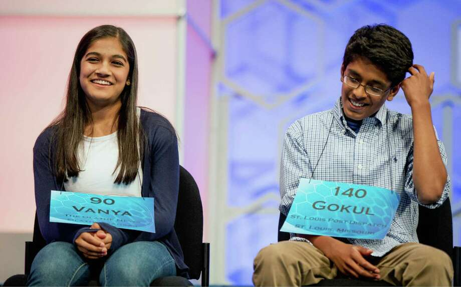 Vanya Shivashankar and Gokul Venkatachalam are last year's Scripps National Spelling Bee champions. The bee is taking steps, such as longer rounds, to avoid a third straight year of ties. Photo: Andrew Harnik, STF