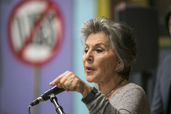 U.S. Senator Barbara Boxer (D-CA), holds a news conference with with affected residents at Shepherd of the Hills Church in Porter Ranch to discuss the effects of the devastating Aliso Canyon natural gas leak in the Porter Ranch area of Los Angeles on Friday, Feb. 12, 2016. The massive gas leak that spewed uncontrollably for nearly four months drove thousands of Los Angeles residents to pack up and leave their homes, while others rode it out. The well still needs to be permanently sealed and inspected by state regulators, a process that could take several days. But the announcement by Southern California Gas Co. marked a milestone in efforts to stop the leak first reported Oct. 23. (AP Photo/Damian Dovarganes)