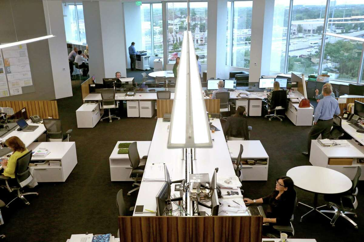 Open work space at HOK, a global design, architecture, engineering and planning firm, Monday, April 11, 2016, in Houston, Texas. ( Gary Coronado / Houston Chronicle )