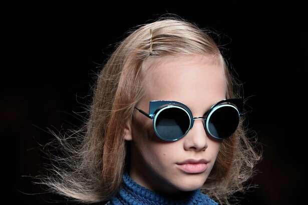 From Fendi, modern cat-eye sunglasses.