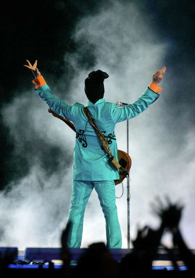 FILE - In this Feb. 4, 2007 file photo, Prince performs during the halftime show at Super Bowl XLI at Dolphin Stadium in Miami. Prince's publicist has confirmed that Prince died at his home in Minnesota, Thursday, April 21, 2016. He was 57. Photo: Chris Carlson /Associated Press / AP