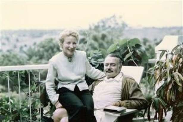 Ernest Hemingway and his wife Mary at Finca Vigia, his house in Havana, in 1948.