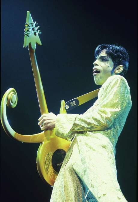 Prince performs at Wembley Arena in London in 1995. Photo: Mick Hutson, Contributor / Redferns