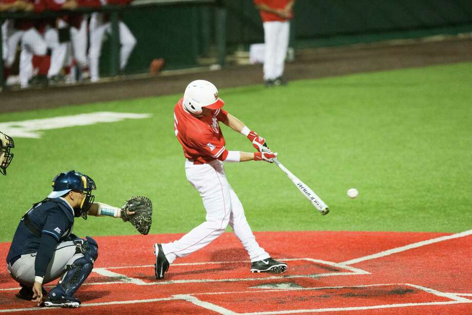 Putting bat to ball on a consistent basis has been a struggle this season for Connor Hollis and the Cougars, with Hollis' .253 average typical of a team hitting .258 to rank 207th nationally. Photo: Juan DeLeon, Staff / Houston Chronicle