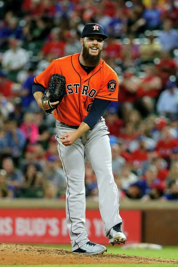 April 21: Rangers 7, Astros 4Houston Astros' Dallas Keuchel follows through on his deliver to the Texas Rangers during a baseball game, Thursday, April 21, 2016, in Arlington, Texas. (AP Photo/Tony Gutierrez) Photo: Tony Gutierrez, Associated Press / AP