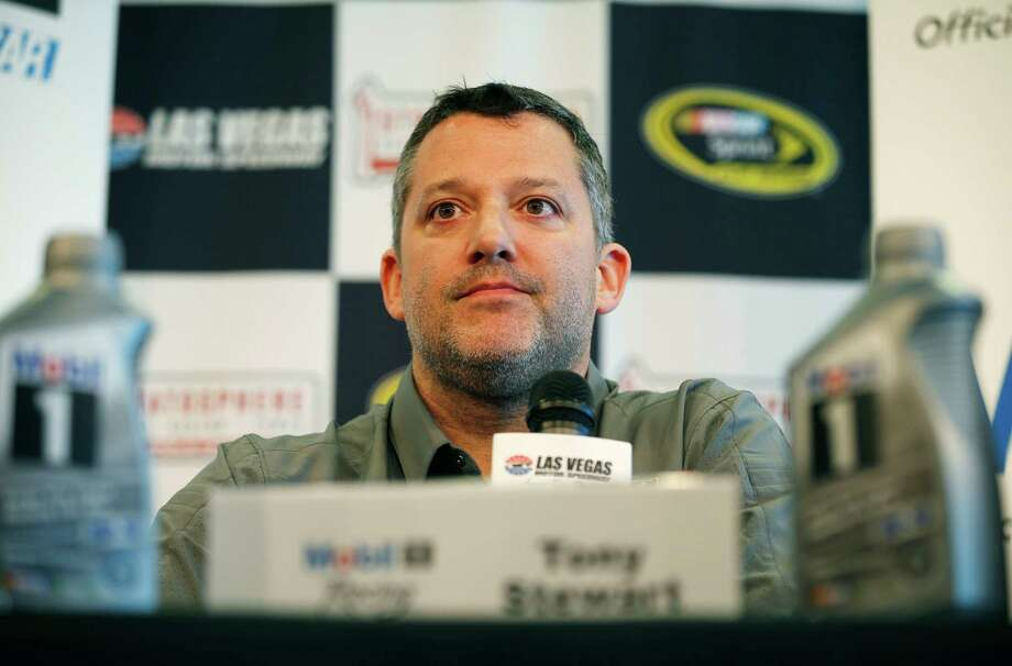 FILE - In this March 4, 2016, file photo, NASCAR driver Tony Stewart speaks during a news conference in Las Vegas. Stewart has been cleared to return to racing and will be back in his car Friday, April 22, 2016, at Richmond International Raceway. The three-time NASCAR champion missed the first eight races of the season with a fractured vertebra suffered in a January all-terrain vehicle accident. (AP Photo/John Locher, File) ORG XMIT: NY159 Photo: John Locher / AP