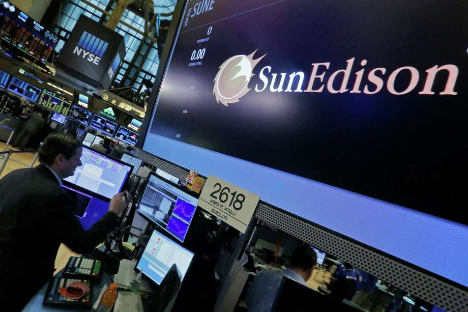 SunEdison's post at the New York Stock Exchange has not seen much positive news in recent months as the company's shares have fallen from $30 last July to less than $1 as investors were alarmed at its massive debt. Photo: Richard Drew, STF