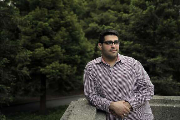 "Khairuldeen Makhzoomi, a UC Berkeley student, at the university in Berkeley, Calif., on Thursday, April 21, 2016. Makhzoomi was pulled off a plane after a fellow passenger claimed she heard him say words in Iraqi arabic connected to martyrdom, while he counters that he said ""inshallah,"" an arabic expression meaning ""god willing,"" or ""hopefully."""