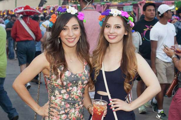 A college twist to Fiesta shenanigans filled La Villita for Night in Old San Antonio on April 21, 2016.