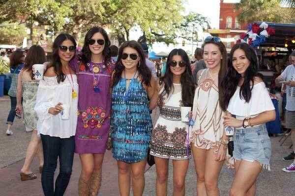 A college twist to Fiesta shenanigans filled La Villita for Night in Old San Antonio on April 21, 2016.