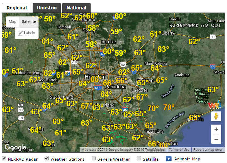 For the first time in several days rain is not in the forecast for the water-logged Houston region. Take a look at how Houstonians are cleaning up after the historic floods.Photo: Chron.com Weather Page Screen Shot