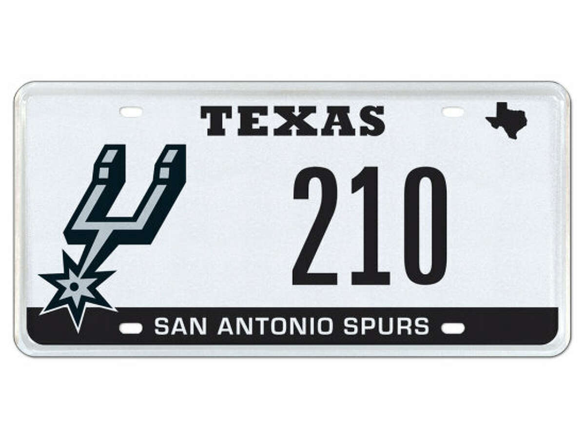 """A specialty Texas license plate with the numbers """"210"""" - San Antonio's area code - will go up for auction on April 27, 2016. Bidding will begin at $750 and last until May 10."""
