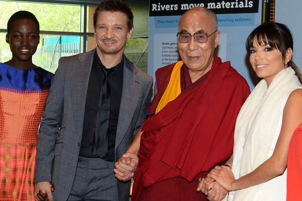 Jeremy Renner and Lupita Nyong'o    Both actors have some out in the support of the religious leader.