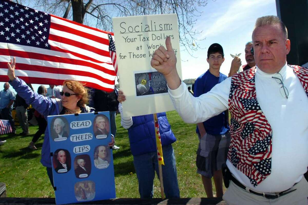 Scenes from the Tax Day Tea Party in New Haven Thursday, April 15th, 2010.
