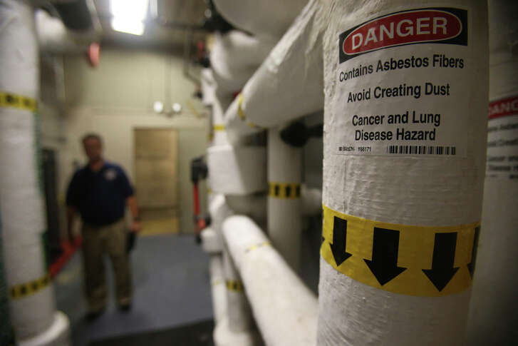 Asbestos in the engineering room is another possible hazard in the John H. Wood, Jr. Federal Courthouse.