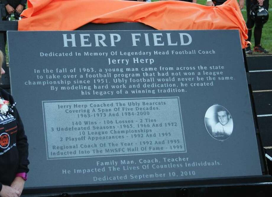 This granite marker will be placed at Herp Field.