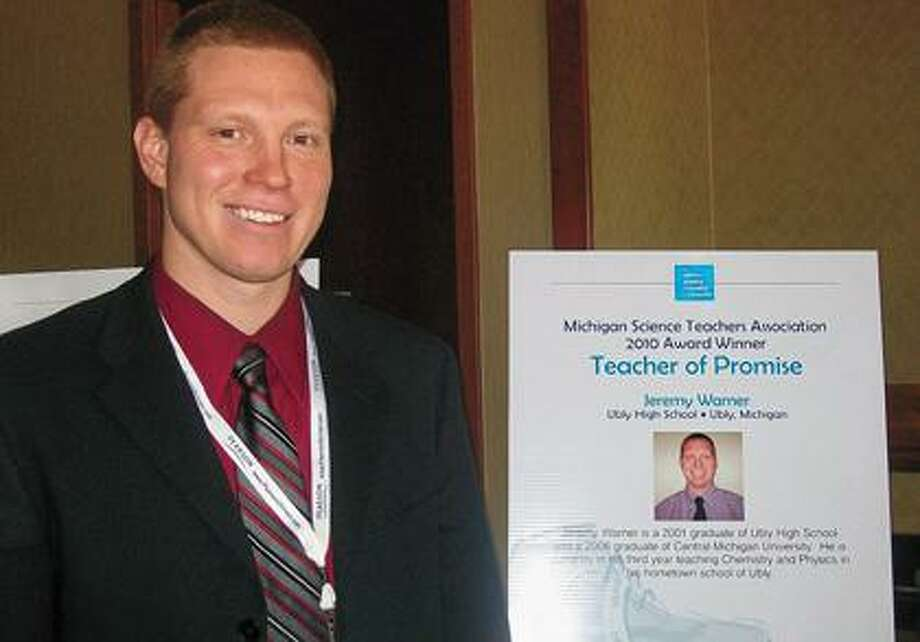 "Jeremy Warner, Ubly High School science teacher, was named the 2010 ""Science Teacher of Promise."""