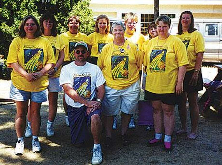 This photo is of the Angels of Hope Relay for Life team.