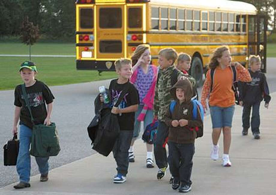 USA students head to their first day of school.