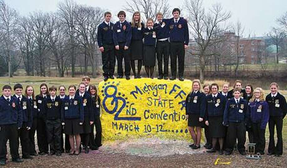 Ubly FFA members at State FFA Convention.