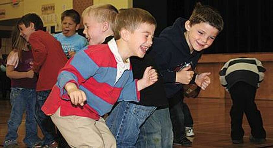 "Kindergarten boys dance while singing ""Tooty Ta."""