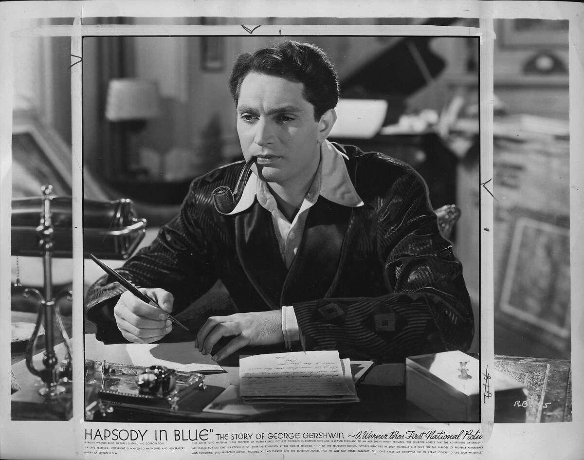 """Robert Alda in the movie """"Rhapsody in Blue - The Story of George Gershwin"""" Date stamped Feb 1, 1946 Ran Fri Sep 19, 1980, 4* p, 31"""