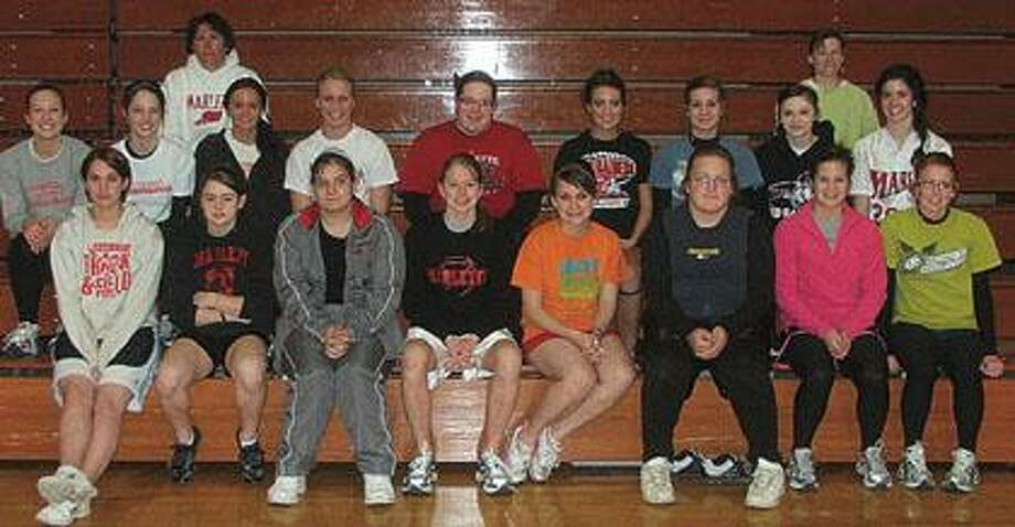 The 2010 Marlette girls track team.