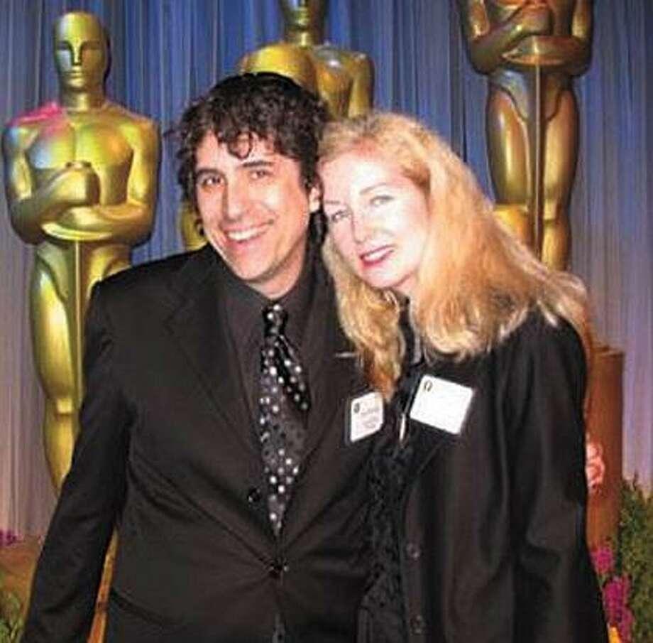Photo courtesy Bob Murawski. Bob Murawski and his wife, Chris Innis, pose at a pre-Academy Awards event.