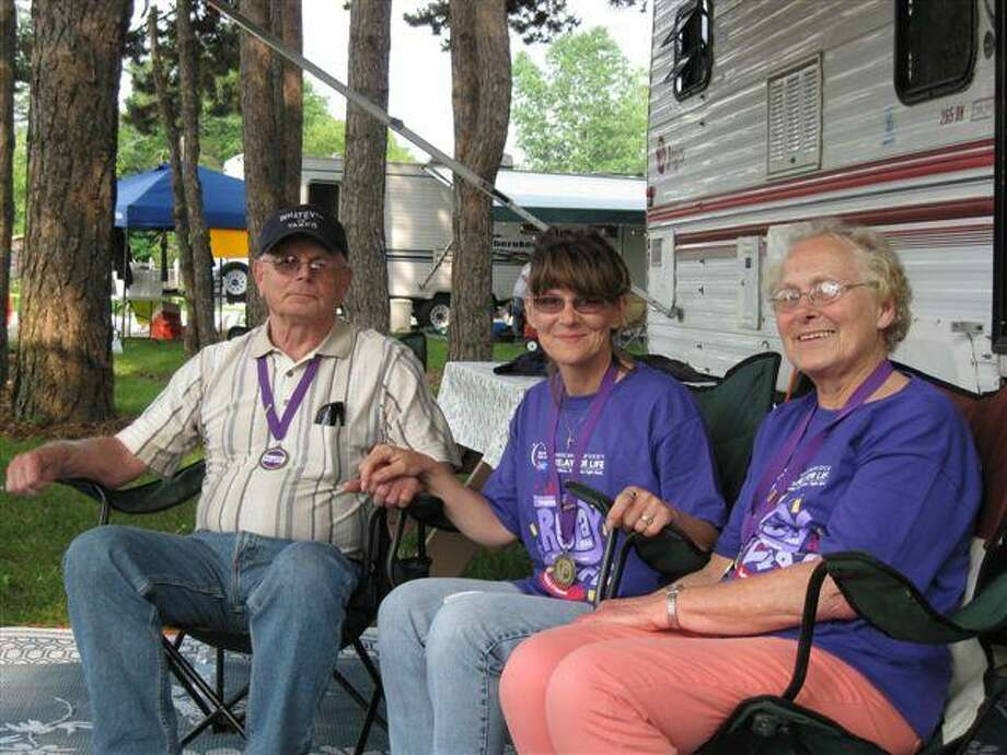 Pictured are Larry Schelke, Dawn Rienas and Marilyn Essenmacher.