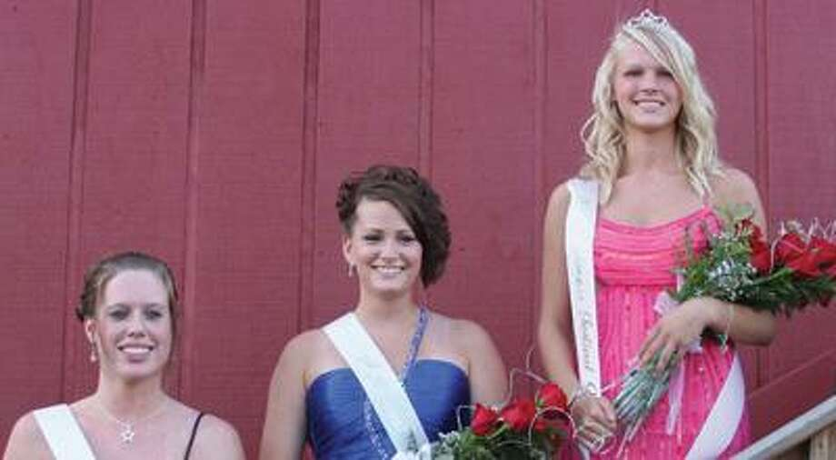 Pictured on the right is the 2010 Farmers' Festival Queen, Mariah Kosinski, daughter of Robert and Cindy Kosinski. Pictured in the middle is the first runner-up, Jalissa Gascho, daughter of Eugene and Suzanne Gascho. On the left is the second runner-up, Samantha Krueger, daughter of Gordon and Lee Ann Krueger.