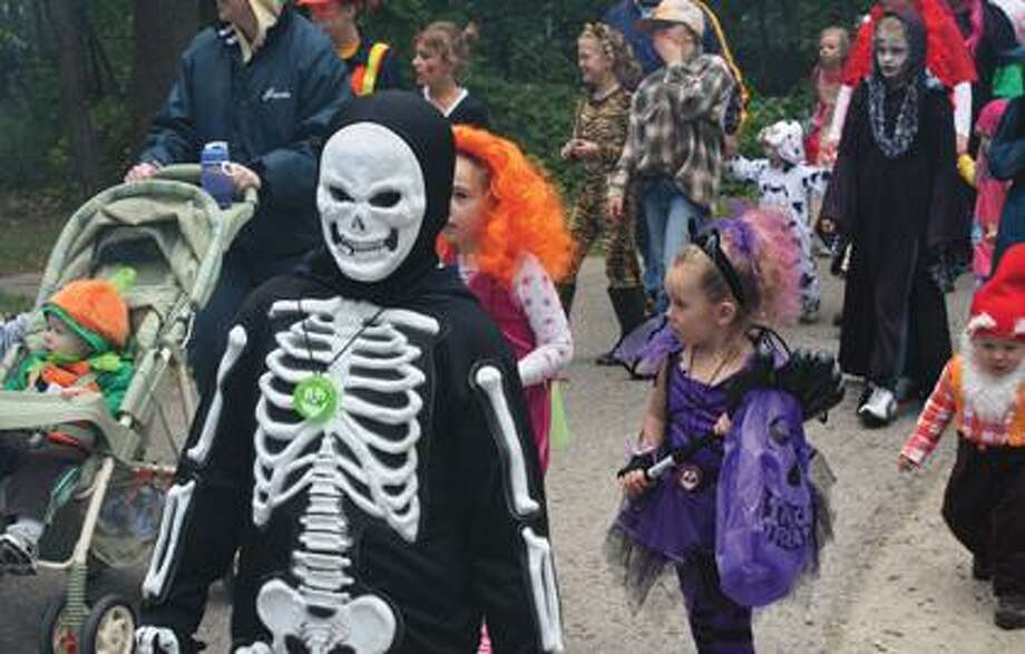 Children take part in Sleeper State Park's costume parade.