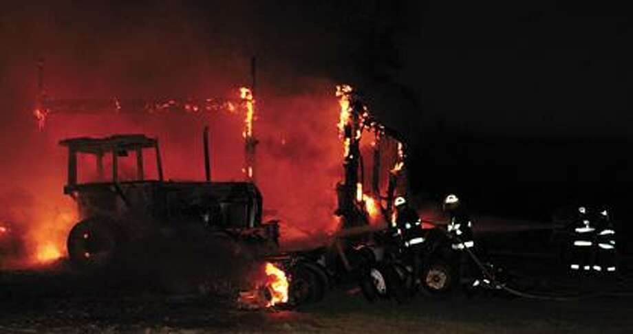 A barn owned by Steve Walsh burned Sunday night.