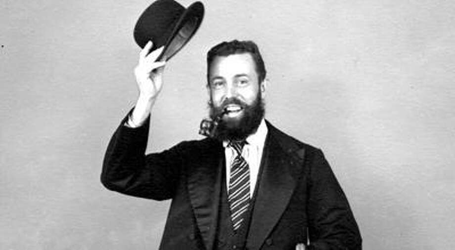 "Wendolin ""Doc"" Clabuesch is pictured here in a photo taken after he won a beard-growing contest during a 1954 Pigeon Diamond Jubilee."