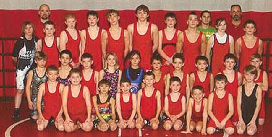 The Marlette Impact Youth Wrestling team