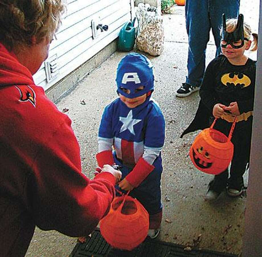 Trick or treaters were out in Ubly Sunday.