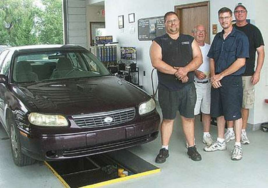 Mechanics Joe Abbott and Larry Hines are joined by Marlette's Jim Groner who brought his Malibu in for an oil change and owner Kirk Hines as they welcome you to NAPA Auto Care Service in Marlette.