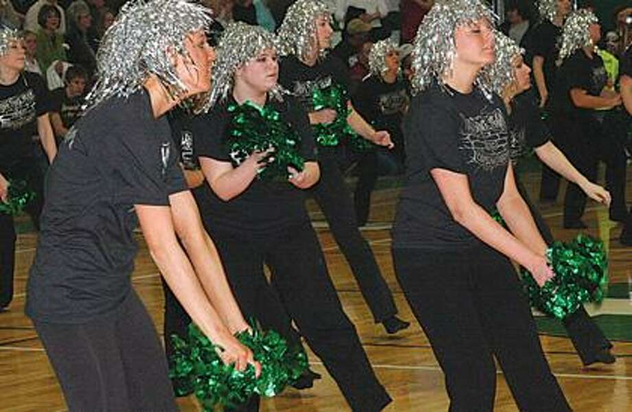Laker dance team performs.