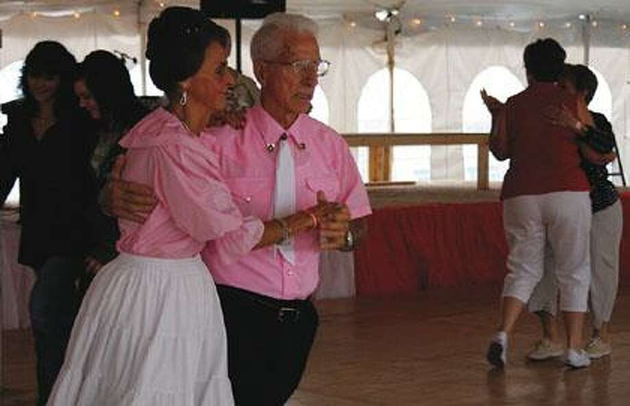 Dancers show off their moves at Polka Fest.