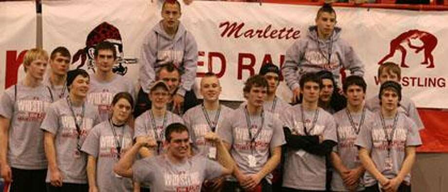 The Marlette wrestling team was ousted by Hesperia in the state quarterfinals, but not before the Raiders compiled a 31-9 record during the 2009-2010 campaign. Photos by Colleen Dischinger.