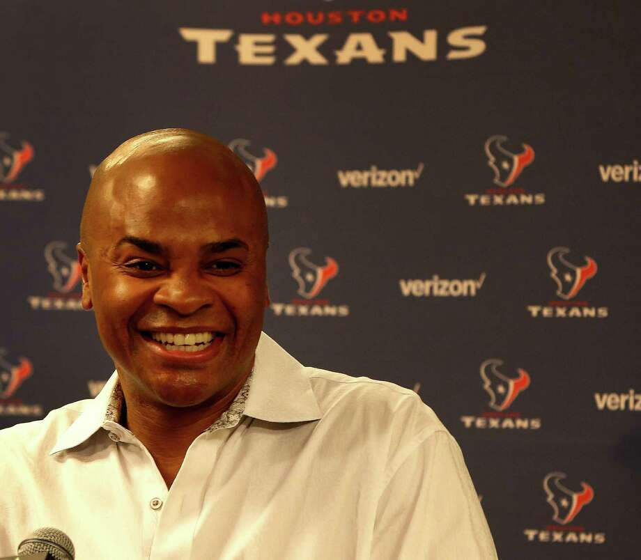 Houston Texans GM Rick Smith speaks to the media about next week's draft during a press conference at NRG Stadium,Friday, April 22, 2016, in Houston. Photo: Karen Warren, Houston Chronicle / © 2016 Houston Chronicle