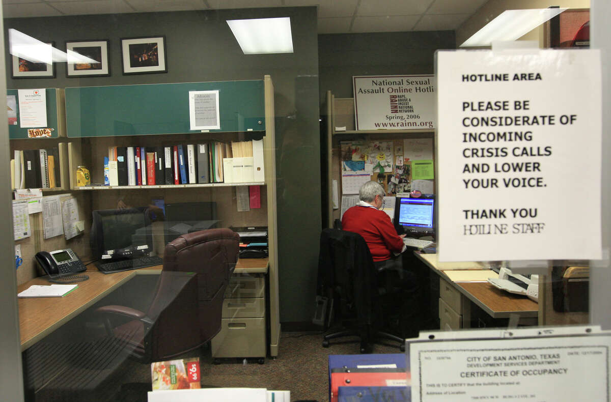 This file photo shows the Rape Crisis Center hotline office. More than 400,000 Texans are sexually assaulted every year.