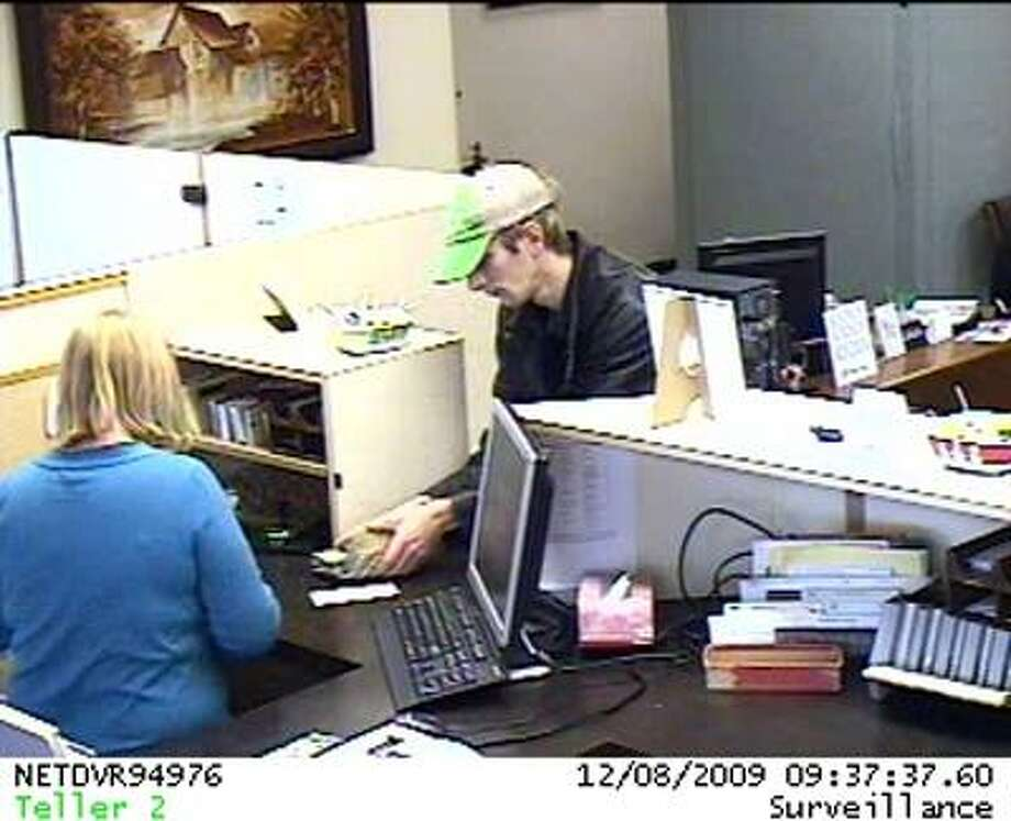 This surveillance photo of the suspected bank robber was released by the Huron County Sheriff's Office.
